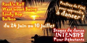stage d'été rock et danse swing